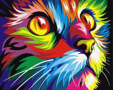Картина по номерам на подрамнике. Радужный кот ВанГогВоМне
