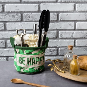 Текстильная корзинка Be Happy Этель
