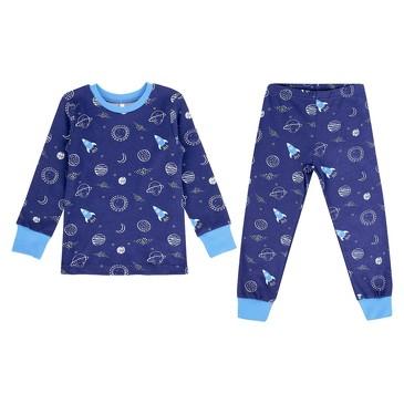 Пижама (кофта, брюки) Маленький космос Leader Kids