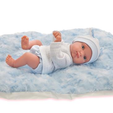 Кукла Пепито мальчик на голубом одеялке Antonio Juan