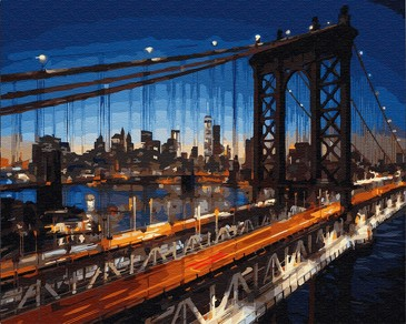 Картина по номерам на подрамнике. Бруклинский мост ВанГогВоМне