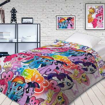 Покрывало стеганое Neon My Little Pony