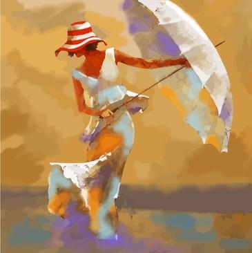 Картина по номерам. Пляжный зонтик Color Kit