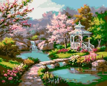 Картина по номерам. Весенний парк Paintboy