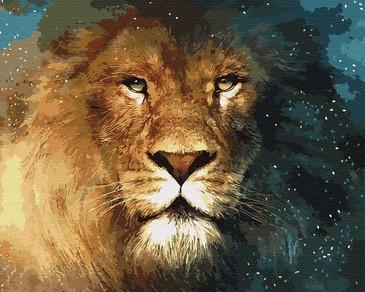 Картина по номерам на подрамнике. Лев -царь зверей ВанГогВоМне
