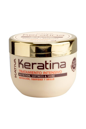 Интенсивно восстанавливающий уход с кератином для поврежденных и хрупких волос Keratina, 500 мл Kati