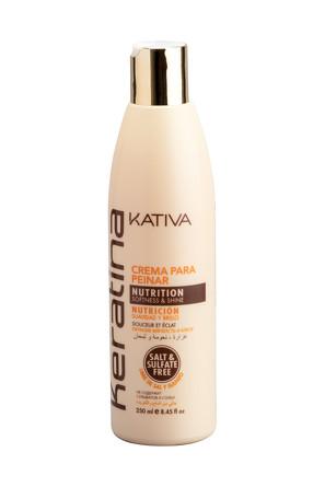 Укрепляющий крем для укладки с кератином для всех типов волос Keratina, 250 мл Kativa
