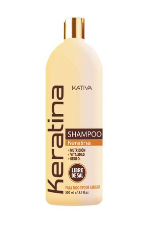 Укрепляющий шампунь с кератином для всех типов волоc Keratina, 500 мл Kativa