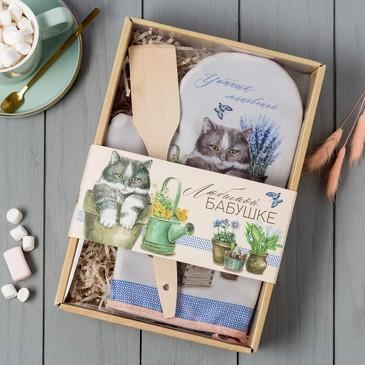Кухонный набор Любимой бабушке (варежка и лопатка) Доляна
