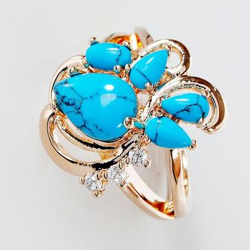 Кольцо с бирюзой Азалия Lotus jewelry