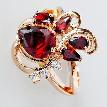 Кольцо с гранатом Азалия Lotus jewelry