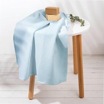 Полотенце вафельное Голубой Этель