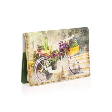 Обложка на паспорт Велосипед-клумба2 Eshemoda