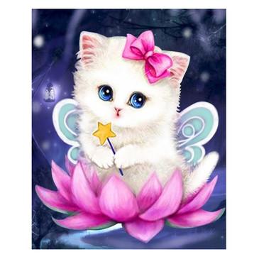 Алмазная картина. Волшебный котенок Color Kit