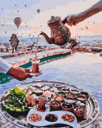 Картина по номерам на подрамнике. Завтрак на берегу ВанГогВоМне