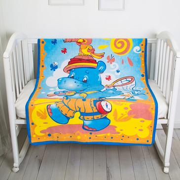 Одеяло байковое Бегемот и попугай Baby Nice