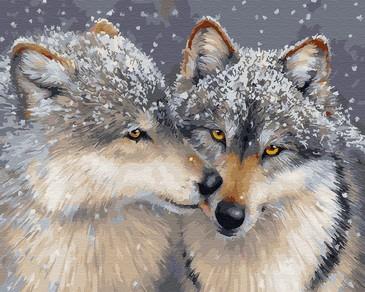 Картина по номерам на подрамнике. Волчья любовь ВанГогВоМне