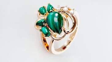 Кольцо с малахитом Азалия Lotus jewelry