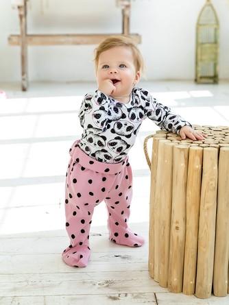 Комплект (боди и ползунки) Милая панда Веселый малыш