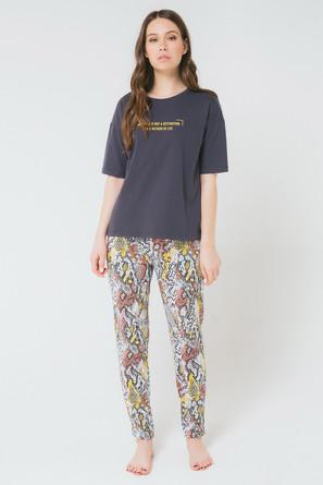 Комплект для девочки Янтарная змея (футболка и брюки) Trikozza