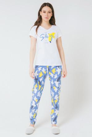 Комплект для девочки Морские чайки (футболка и брюки) Trikozza