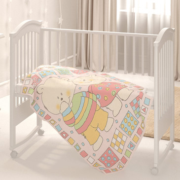 Одеяло байковое Два медведя Baby Nice