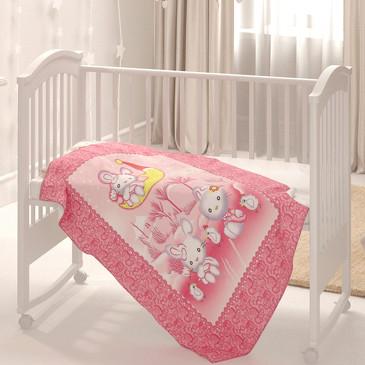 Одеяло байковое Зайка на луне Baby Nice