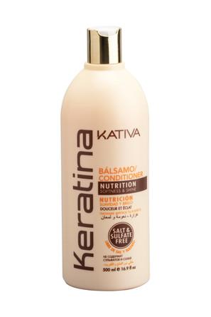 Укрепляющий бальзам-кондиционер с кератином для всех типов волос, 500 мл Kativa