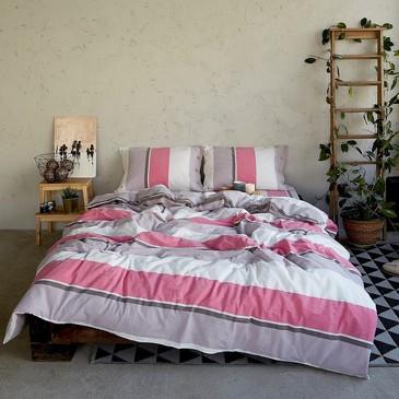 Комплект постельного белья Розовая полоса Этель