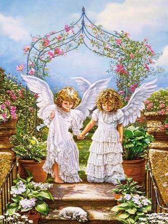Картина по номерам. Друзья-ангелы Paintboy
