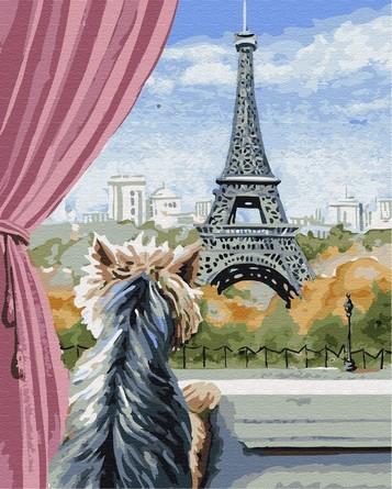 Картина по номерам на подрамнике. Эйфелева башня ВанГогВоМне