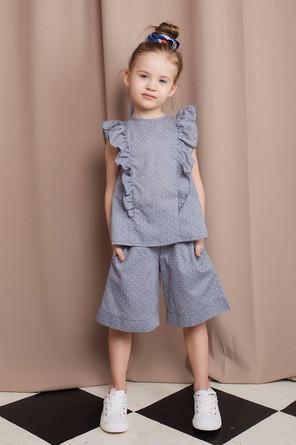 Комплект (блуза, шорты) Cotton collection Minaku