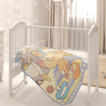 Одеяло байковое Кот на кухне Baby Nice