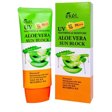 Солнцезащитный крем с экстрактом алоэ SPF 50+/PA+++ Ekel