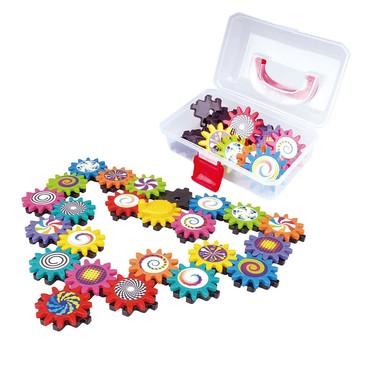Игровой набор Конструктор с шестеренками в сундучке PlayGo