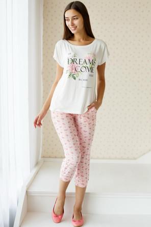 Комплект (фуфайка и бриджи) женский Розовый сад Trikozza
