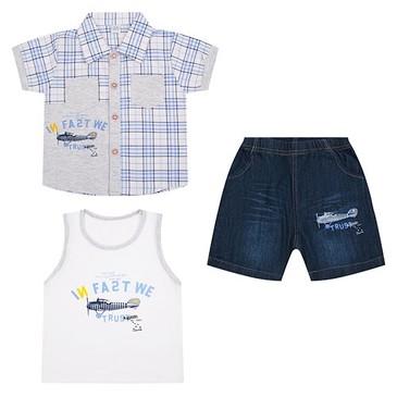 Комплект (сорочка, майка и шорты) Fun Time
