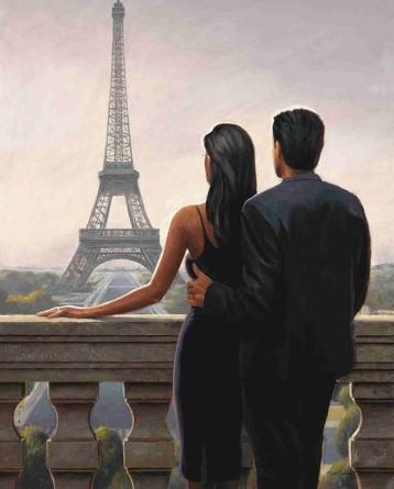 Картина по номерам на подрамнике. Двое влюбленных во Франции ВанГогВоМне