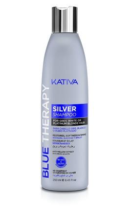 Шампунь нейтрализатор желтизны для осветленных и мелированных волос Blue Therapy?  250мл Kativa