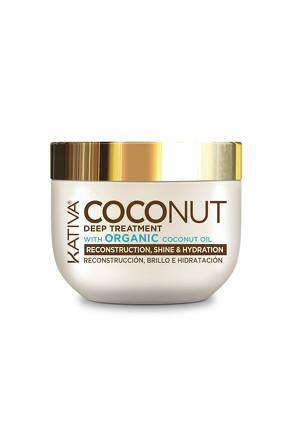 Восстанавливающая маска с органическим кокосовым маслом для поврежденных волос Coconut, 250мл Kativa