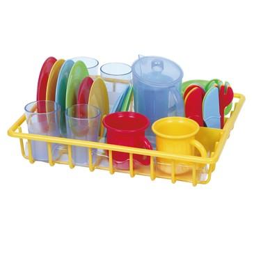 Игровой набор - сушка с посудой , 30 предметов PlayGo