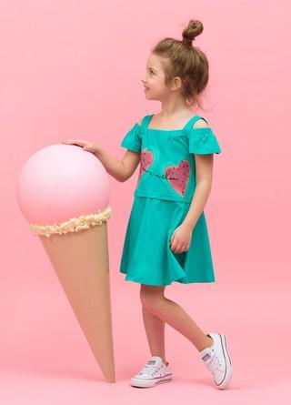 Платье для девочек Арбузная долька Pelican