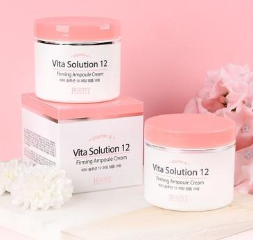 Омолаживающий ампульный крем для лица Vita Solution 12  Jigott