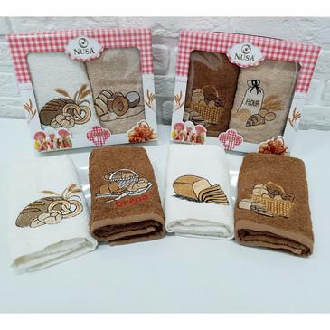 Салфетки махровые с вышивкой Хлеб (2 шт.) Nusa
