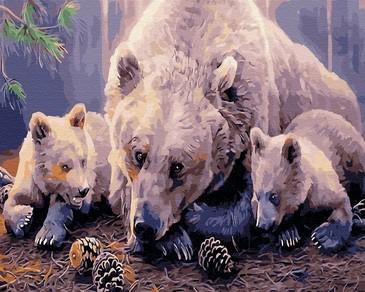 Картина по номерам на подрамнике. Три медведя ВанГогВоМне