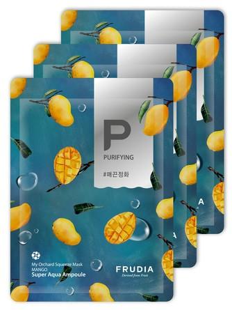 Набор (3 шт.) Питательная маска для лица с манго My Orchard Frudia
