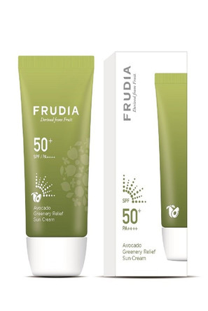 Солнезащитный восстанавливающий крем с авокадо SPF50 + PA ++++ Frudia