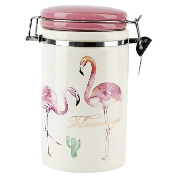 Банка для сыпучих продуктов (клипс) Фламинго, 1 л Dolomite