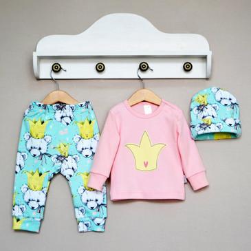 Комплект (кофточка, штаны и шапка) Лучшие друзья Baby Boom