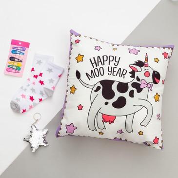 Набор подарочный (подушка-секрет 40х40 и аксессуары (3 шт.)) Beauty cow Этель